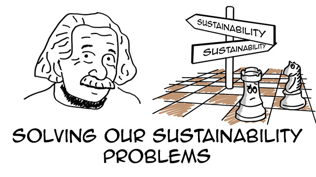 How might Einstein solve our sustainability problems? (Backcasting)