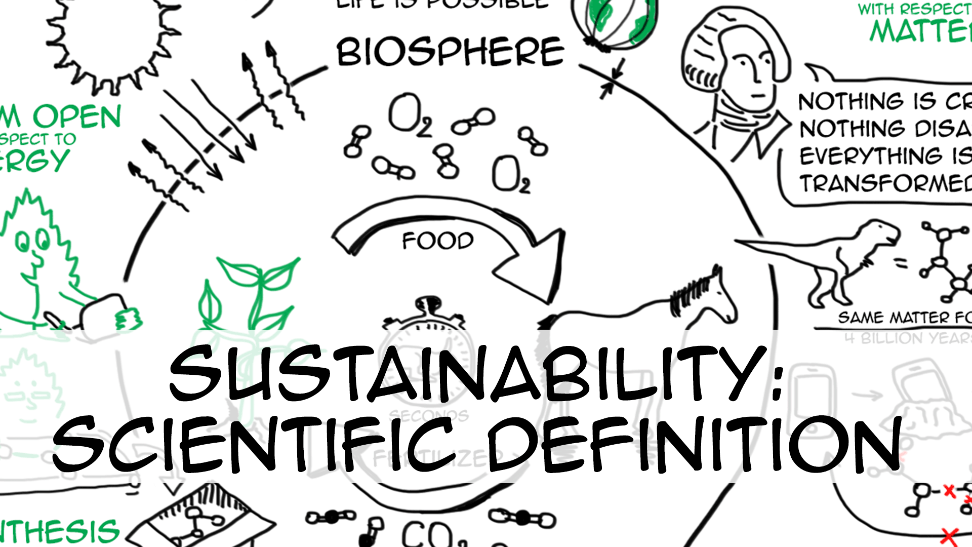 Sustainability: scientific & simple definition