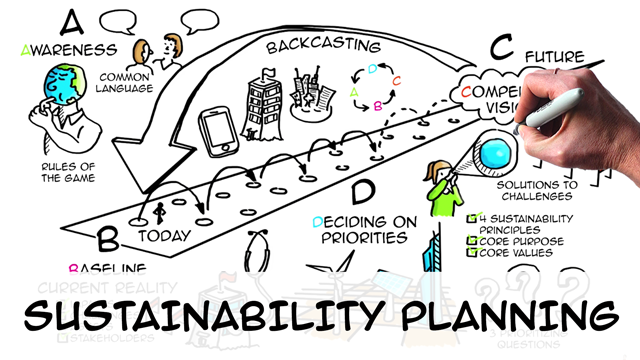 Sustainability strategy: planning in 4 steps (ABCD method)