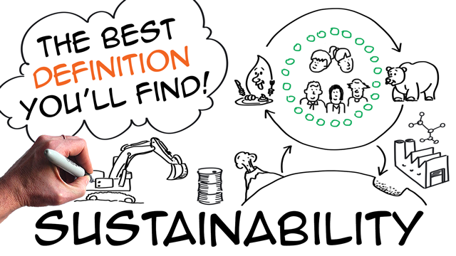 Sustainability: definition with simple natural science